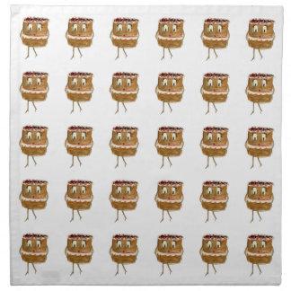 Funny black forest gateaus novelty art napkins