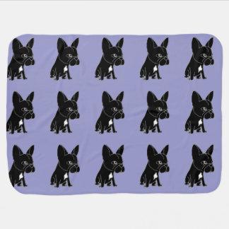 Funny Black French Bulldog Puppy Dog Baby Blanket