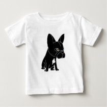 Funny Black French Bulldog Puppy Dog Baby T-Shirt