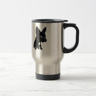 Funny Black French Bulldog Puppy Dog Travel Mug