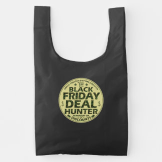 Funny Black Friday Deal Hunter Discount Shoppers Reusable Bag