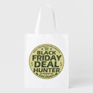 Funny Black Friday Deal Hunter Discount Shopping Reusable Grocery Bag
