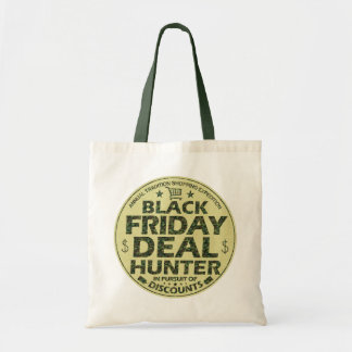 Funny Black Friday Deal Hunter Discount Shopping Tote Bag