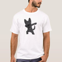 Funny Black German Shepherd Dabbing T-Shirt