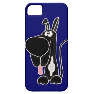 Funny Black Great Dane Original Art iPhone SE/5/5s Case