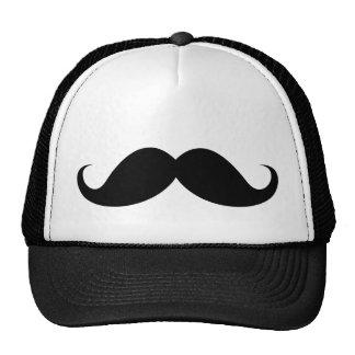 Funny black handlebar mustache moustache mesh hat