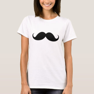 Funny black handlebar mustache moustache trendy T-Shirt