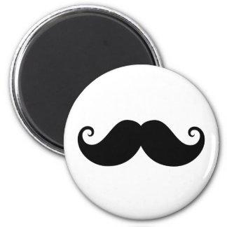 Funny black handlebar mustache trendy hipster 2 inch round magnet