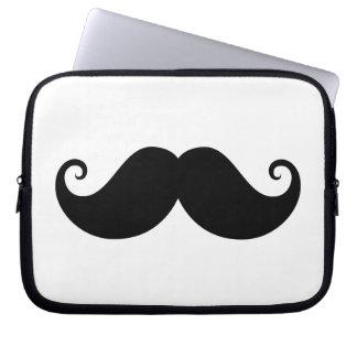 Funny black handlebar mustache trendy hipster laptop computer sleeves