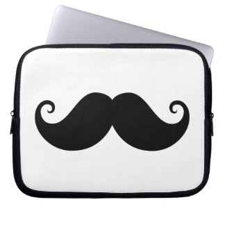 Funny black handlebar mustache trendy hipster computer sleeves