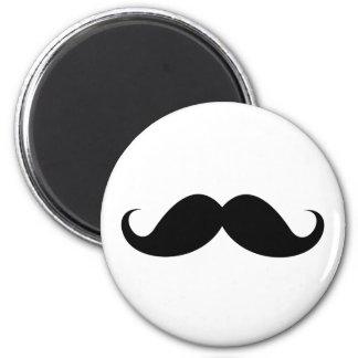 Funny black handlebar mustache trendy hipster magnet
