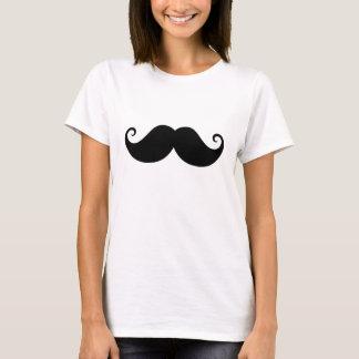 Funny black handlebar mustache trendy hipster T-Shirt