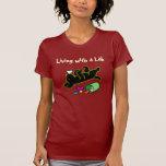 Funny Black Labrador Cartoon Illustration Tee Shirts