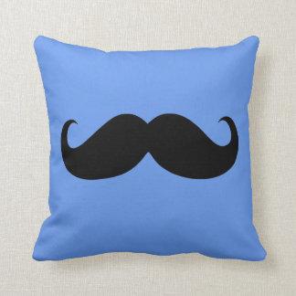 Funny Black Mustache 10 Throw Pillow