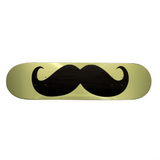 Funny black mustache 10 skateboard
