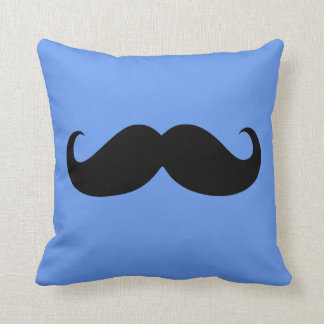 Funny Black Mustache 10 Throw Pillow