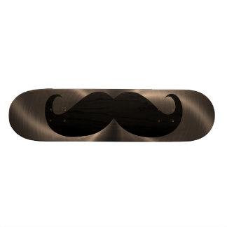 Funny black mustache 17 skateboard