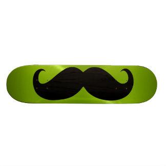 Funny black mustache 8 skateboard