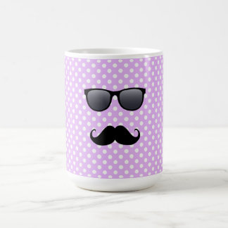 Funny Black Mustache And Glasses Classic White Coffee Mug