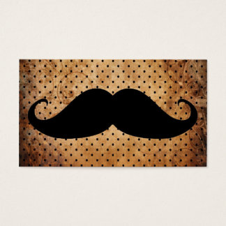 Funny Black Mustache Business Card