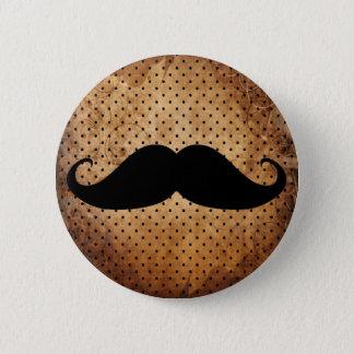 Funny Black Mustache Button