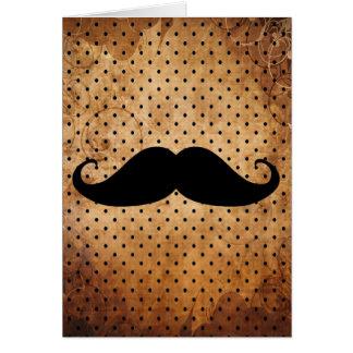 Funny Black Mustache Cards