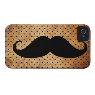 Funny Black Mustache Case-Mate iPhone 4 Cases