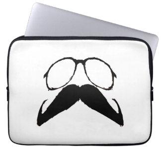 Funny Black Mustache Glasses Computer Sleeve