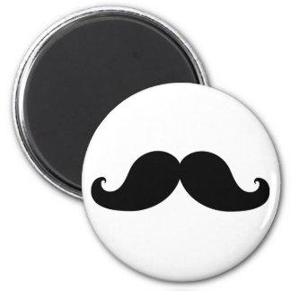 Funny Black Mustache Humor Magnet