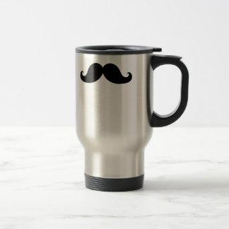 Funny Black Mustache Humor Coffee Mug