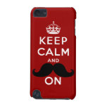 Funny Black Mustache Keep Calm iPod Touch (5th Generation) Case