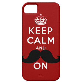 Funny Black Mustache Keep Calm iPhone 5 Cover