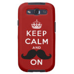 Funny Black Mustache Keep Calm Samsung Galaxy SIII Cases