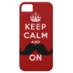 Funny Black Mustache Keep Calm iPhone 5 Case