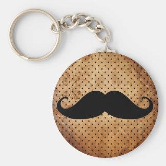 Funny Black Mustache Keychain