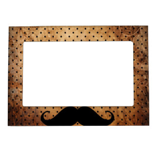 Funny Black Mustache Magnetic Picture Frame