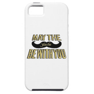 Funny Black Mustache - May the Stache be with you iPhone SE/5/5s Case