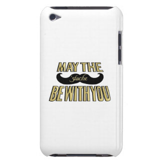 Funny Black Mustache - May the Stache be with you iPod Case-Mate Case