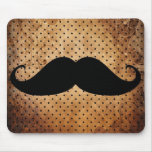 Funny Black Mustache Mouse Pad