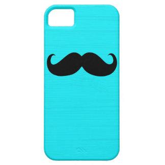 Funny Black Mustache on Aqua Background iPhone SE/5/5s Case