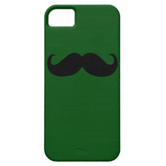 Funny Black Mustache on Green Background iPhone SE/5/5s Case