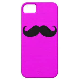 Funny Black Mustache on Pink Background iPhone SE/5/5s Case