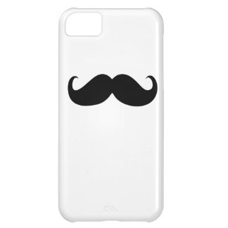 Funny Black Mustache on White Background iPhone 5C Cover