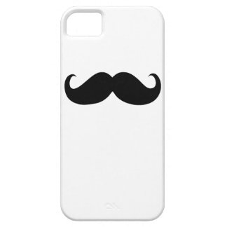 Funny Black Mustache on White Background iPhone SE/5/5s Case