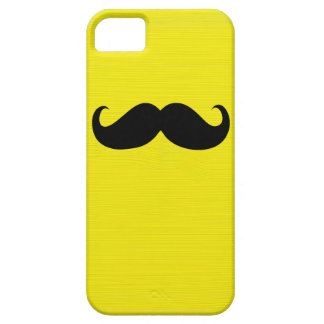Funny Black Mustache on Yellow Background iPhone SE/5/5s Case