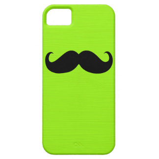 Funny Black Mustache on Yellow Green Background iPhone SE/5/5s Case