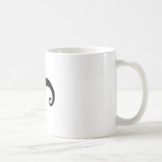 Funny Black Mustache or Moustache Style Coffee Mug
