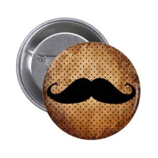 Funny Black Mustache Pin