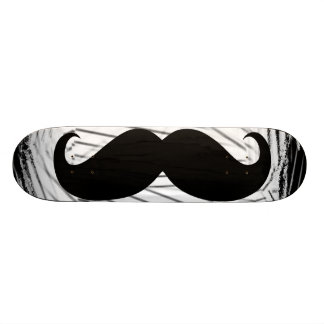 Funny black mustache skateboard deck