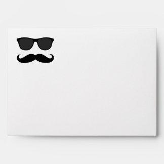 Funny Black Mustache, Sunglasses Envelopes